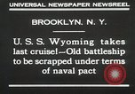 Image of USS Wyoming passing under Brooklyn Bridge New York City USA, 1930, second 6 stock footage video 65675023930