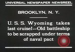 Image of USS Wyoming passing under Brooklyn Bridge New York City USA, 1930, second 8 stock footage video 65675023930