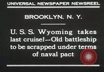 Image of USS Wyoming passing under Brooklyn Bridge New York City USA, 1930, second 9 stock footage video 65675023930