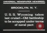 Image of USS Wyoming passing under Brooklyn Bridge New York City USA, 1930, second 11 stock footage video 65675023930