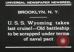 Image of USS Wyoming passing under Brooklyn Bridge New York City USA, 1930, second 12 stock footage video 65675023930