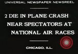 Image of Plane crash Chicago Illinois USA, 1930, second 1 stock footage video 65675023931