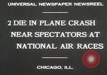 Image of Plane crash Chicago Illinois USA, 1930, second 2 stock footage video 65675023931