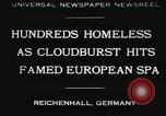 Image of Cloudburst hits Reichenhall Bavaria Germany, 1930, second 1 stock footage video 65675023933