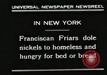Image of Franciscan Friar New York United States USA, 1930, second 3 stock footage video 65675023936