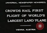Image of G-38 plane Vienna Austria, 1930, second 1 stock footage video 65675023937