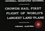 Image of G-38 plane Vienna Austria, 1930, second 2 stock footage video 65675023937