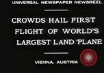 Image of G-38 plane Vienna Austria, 1930, second 3 stock footage video 65675023937
