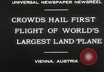 Image of G-38 plane Vienna Austria, 1930, second 5 stock footage video 65675023937