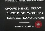 Image of G-38 plane Vienna Austria, 1930, second 7 stock footage video 65675023937
