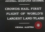 Image of G-38 plane Vienna Austria, 1930, second 9 stock footage video 65675023937