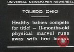 Image of Healthy baby competition Toledo Ohio USA, 1930, second 1 stock footage video 65675023940