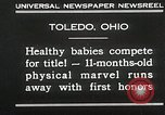 Image of Healthy baby competition Toledo Ohio USA, 1930, second 2 stock footage video 65675023940