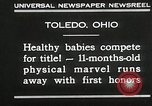 Image of Healthy baby competition Toledo Ohio USA, 1930, second 3 stock footage video 65675023940