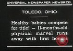 Image of Healthy baby competition Toledo Ohio USA, 1930, second 4 stock footage video 65675023940