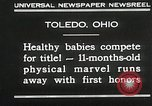 Image of Healthy baby competition Toledo Ohio USA, 1930, second 5 stock footage video 65675023940
