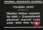 Image of Healthy baby competition Toledo Ohio USA, 1930, second 6 stock footage video 65675023940