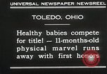 Image of Healthy baby competition Toledo Ohio USA, 1930, second 7 stock footage video 65675023940