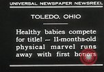 Image of Healthy baby competition Toledo Ohio USA, 1930, second 8 stock footage video 65675023940