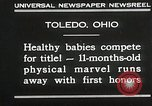 Image of Healthy baby competition Toledo Ohio USA, 1930, second 9 stock footage video 65675023940