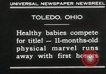 Image of Healthy baby competition Toledo Ohio USA, 1930, second 10 stock footage video 65675023940