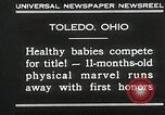Image of Healthy baby competition Toledo Ohio USA, 1930, second 11 stock footage video 65675023940
