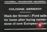 Image of Henry Ford Cologne Germany, 1930, second 1 stock footage video 65675023941