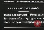 Image of Henry Ford Cologne Germany, 1930, second 2 stock footage video 65675023941