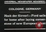 Image of Henry Ford Cologne Germany, 1930, second 3 stock footage video 65675023941
