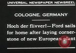 Image of Henry Ford Cologne Germany, 1930, second 4 stock footage video 65675023941