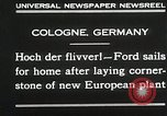 Image of Henry Ford Cologne Germany, 1930, second 5 stock footage video 65675023941