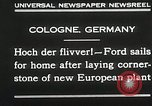Image of Henry Ford Cologne Germany, 1930, second 7 stock footage video 65675023941