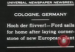 Image of Henry Ford Cologne Germany, 1930, second 8 stock footage video 65675023941