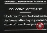 Image of Henry Ford Cologne Germany, 1930, second 9 stock footage video 65675023941