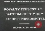 Image of Baptism ceremony Brussels Belgium, 1930, second 3 stock footage video 65675023942
