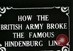 Image of Battle of Hindenburg Line France, 1918, second 2 stock footage video 65675024091