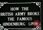 Image of Battle of Hindenburg Line France, 1918, second 4 stock footage video 65675024091