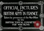 Image of Royal Field Artillery France, 1918, second 4 stock footage video 65675024100
