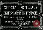 Image of Royal Field Artillery France, 1918, second 8 stock footage video 65675024100