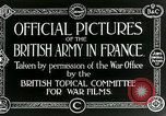 Image of Royal Field Artillery France, 1918, second 10 stock footage video 65675024100