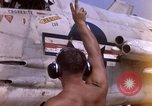 Image of F-8E Crusader aircraft of Marine Squadron taxi to runway Da Nang Vietnam, 1967, second 11 stock footage video 65675024123