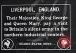 Image of King George V Liverpool England, 1918, second 1 stock footage video 65675024136