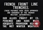 Image of French trenches in the front lines France, 1918, second 3 stock footage video 65675024139