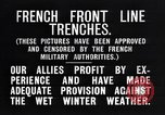 Image of French trenches in the front lines France, 1918, second 4 stock footage video 65675024139
