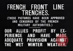 Image of French trenches in the front lines France, 1918, second 6 stock footage video 65675024139