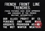 Image of French trenches in the front lines France, 1918, second 9 stock footage video 65675024139