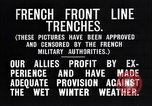 Image of French trenches in the front lines France, 1918, second 12 stock footage video 65675024139