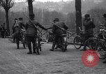 Image of Belgian Motor Cycle Corps Paris France , 1915, second 8 stock footage video 65675024142