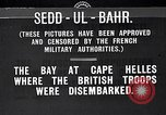 Image of World War I Sedd el Bahr Cape Helles Dardanelles Turkey, 1915, second 1 stock footage video 65675024149