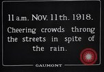 Image of Armistice Day London England United Kingdom, 1918, second 8 stock footage video 65675024160